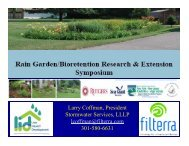 Introduction: Background on Bioretention in Maryland