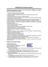 REGISTRE DE CLÍNICA DENTAL