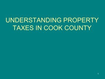 understanding property taxes in cook county - New Trier Township ...
