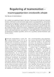 Regulering af teamemotion – - Nyt om Arbejdsliv