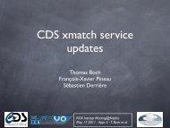 CDS XMatch service updates - IVOA