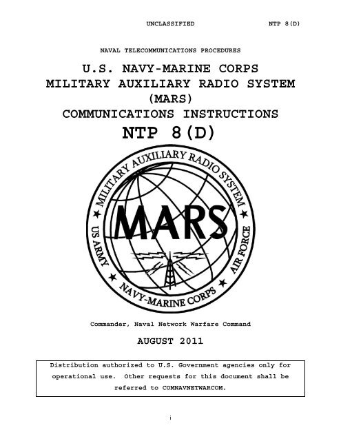 Download A Complete Copy Of Ntp 8 D Navy Marine Corps Mars