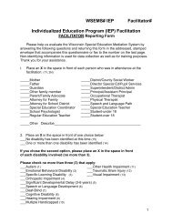 Individualized Education Program (IEP) Facilitation - WSEMS