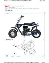 Parts Lists - DB30-RR Rato Doodle Bug 96cc - Baja Motorsports