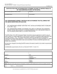 Certification and Authorization Form PTO/SB/69 - United States ...