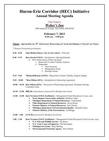 Agenda - Michigan Sea Grant