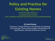 David Strong Presentation - Good Homes Alliance