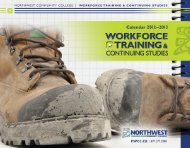 Download Workforce Skills & Continuing Studies 2012 - Northwest ...
