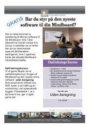 Har du styr på den nyeste software til din Mindboard? - NSF