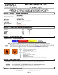 TH-73 Make Up Ink | Material Safety Data Sheet : Hitachi America, Ltd.