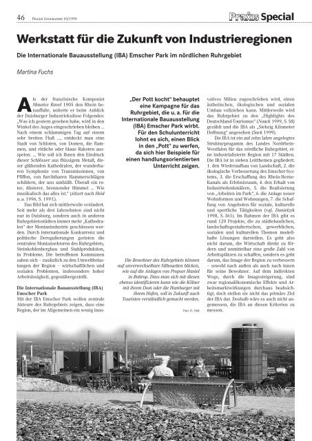 Werkstatt für die Zukunft von Industrieregionen