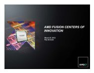 AMD FUSION CENTERS OF INNOVATION - ecedha