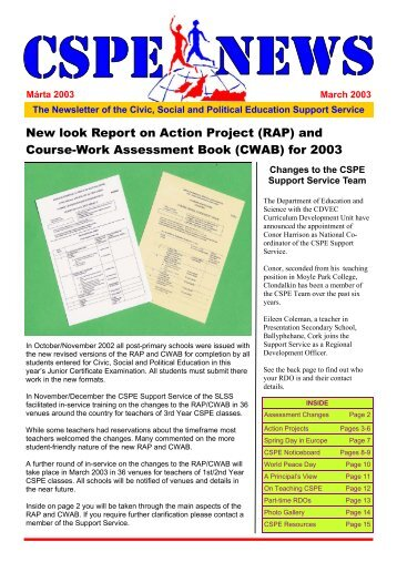 cspe course work assessment book