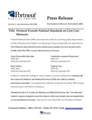 Title: Portneuf Exceeds National Standards on Core Care Measures