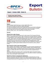 Export Bulletin - October 2008 - Week 41