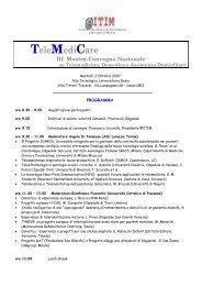 TeleMediCare - Comunità Piergiorgio
