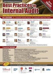 Best Practices in Internal Audit