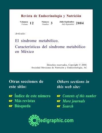 El síndrome metabólico Posición de la Sociedad ... - edigraphic.com