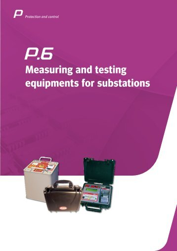 Measuring and testing equipments for substations - Circutor