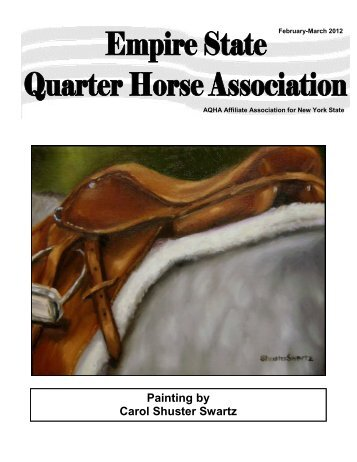 March Newsletter - Empire State Quarter Horse Association