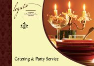 Catering & Party Service - Kultur Bistro Legato