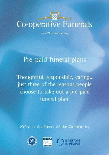 Pre-paid funeral plans - Heart of England Co-operative Society