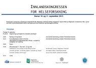 innlandskongressen for helseforskning - Sykehuset Innlandet HF