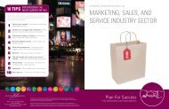 Marketing, Sales, and Service Industry Sector Brochure