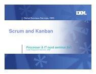 Scrum and Kanban - InfinIT