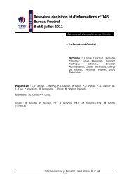 Relevé de Décision et d'Information n° 146 - Fédération Française ...