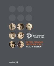 Québec Pandemic Influenza Plan - Health Mission - MSSS/Notice ...