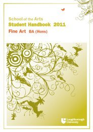 Student Handbook 2011 Fine Art BA (Hons) - Study in the UK
