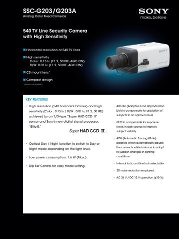 SSC-G203/G203A - Surveillance-Video.com