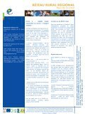 Lettre d'informations du Réseau rural régional n - Page 2