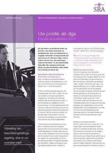Uw positie als DGA: fiscale actualiteiten 2011 - Webkey