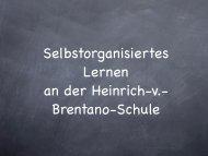 Selbstorganisiertes Lernen - Heinrich-von-Brentano Schule