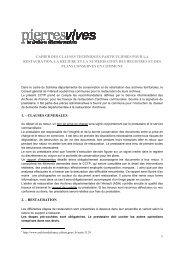 CCTP destiné aux prestataires - pierresvives - Conseil Général de l ...