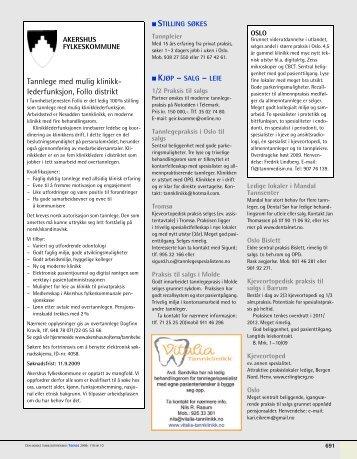 Tannlege med mulig klinikk- lederfunksjon, Follo distrikt