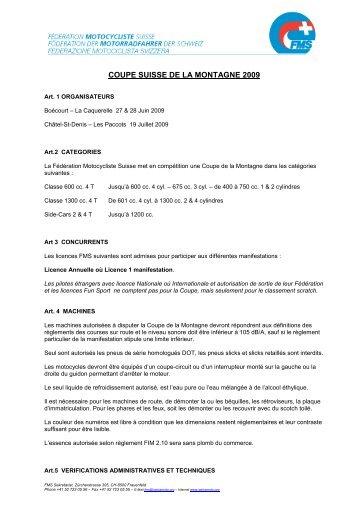 COUPE SUISSE DE LA MONTAGNE 2009 - MC Châtel