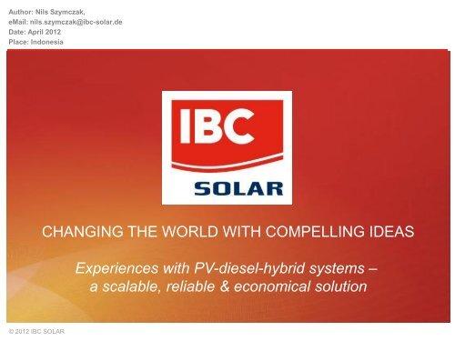 IBC Solar in the Philippines 2012 Feb