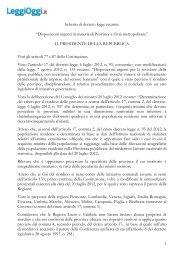 Esclusivo, il testo dello schema del Dl approvato - LeggiOggi