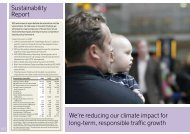 Sustainability Report We're reducing our climate impact for ... - SAS