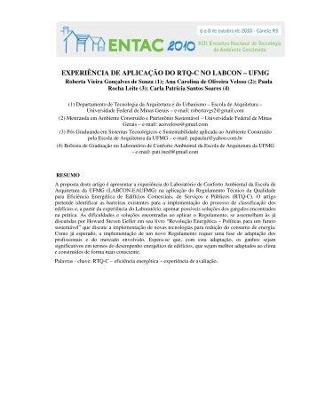 experiência de aplicação do rtq-c no labcon – ufmg - Ares Arquitetura
