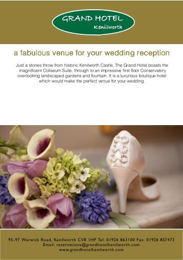 Please download our Wedding Brochure - Grand Hotel
