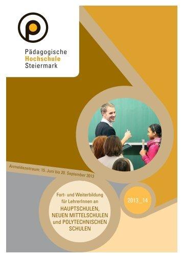 Fort- Weiterbildung HS NMS PTS 2013/14 - Pädagogische ...