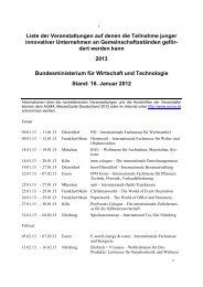 Inlandsmesseprogramm 2013 des BMWi - Berlin Business Location ...