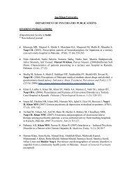 Student Publications - Aga Khan University