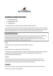 Hoito-ohjeet PDF - Korkkitrio Oy