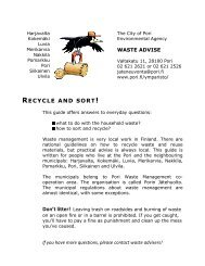 waste advise - Pori