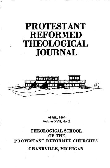 April 1984 (pdf) - Protestant Reformed Churches in America
